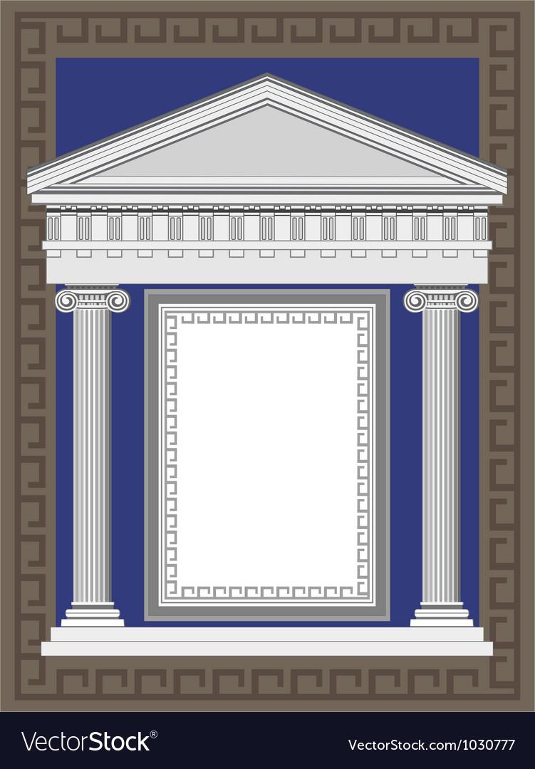 Greek architecture vector | Price: 1 Credit (USD $1)