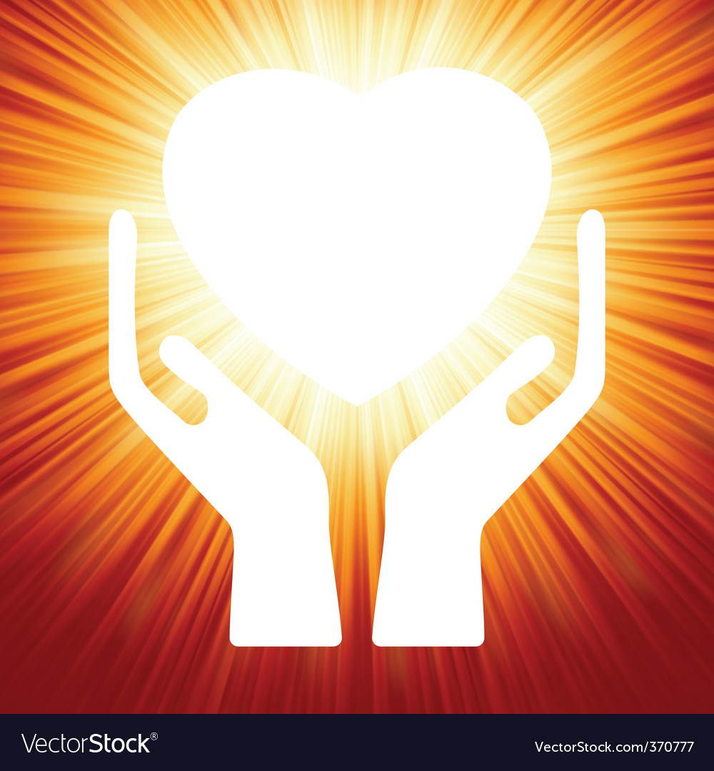 Heart in open hands vector | Price: 1 Credit (USD $1)