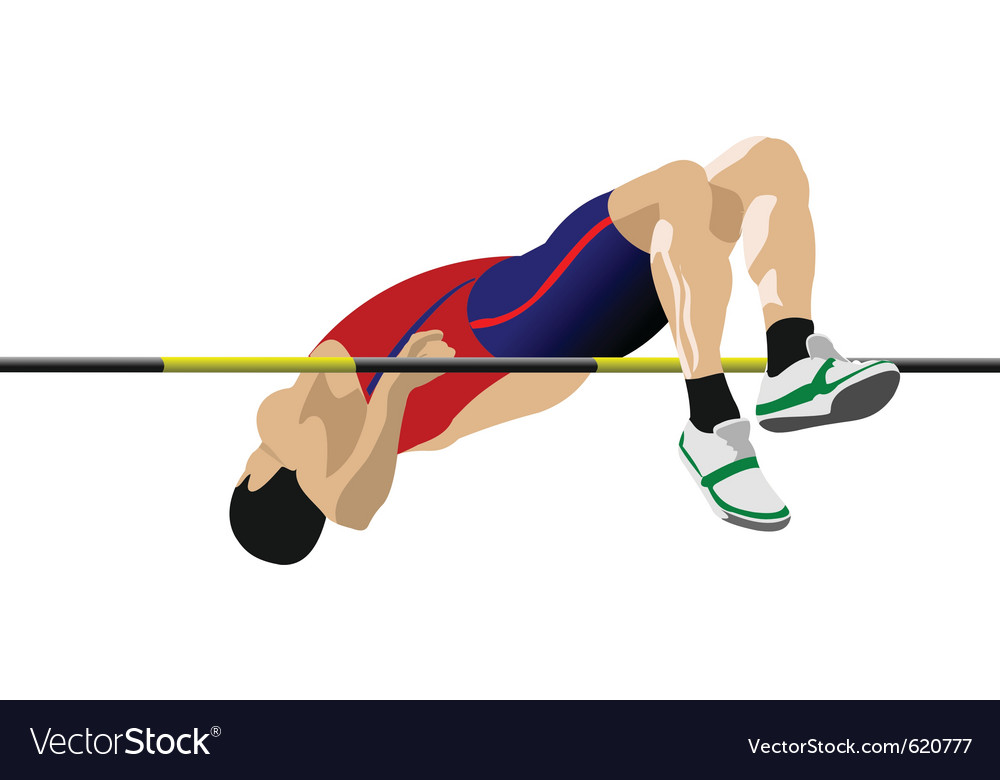 High jumper vector | Price: 1 Credit (USD $1)