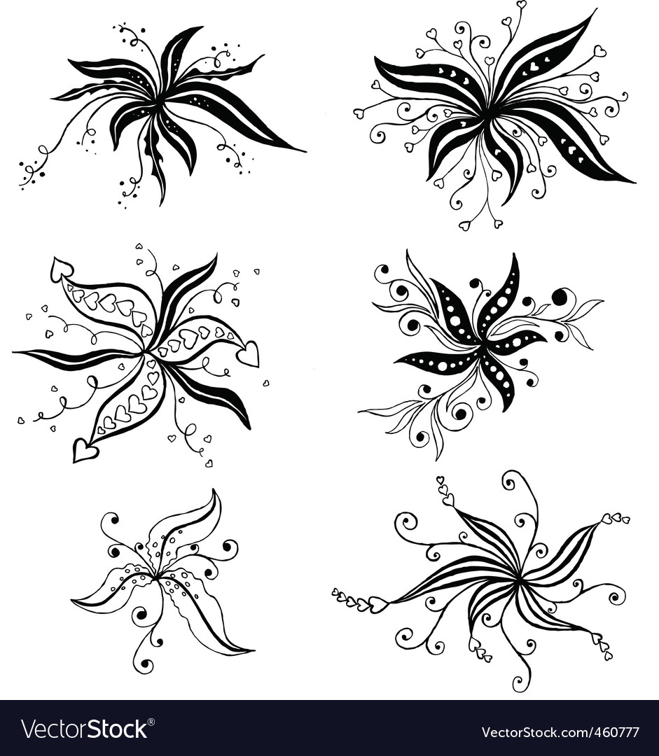 ornament in flower style vector | Price: 1 Credit (USD $1)