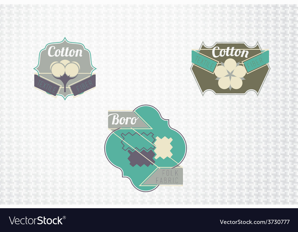 Textile fiber set vector | Price: 1 Credit (USD $1)