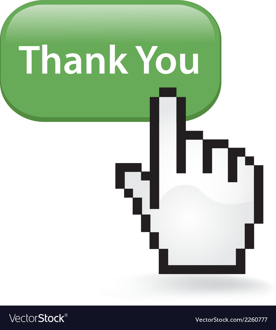 Thank you button vector | Price: 1 Credit (USD $1)
