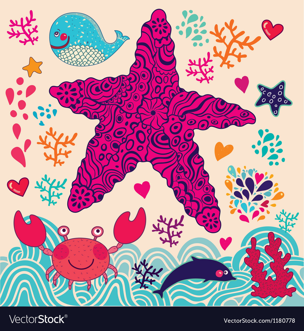Abstract starfish vector | Price: 3 Credit (USD $3)