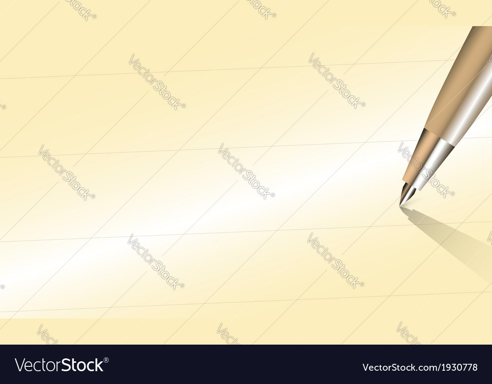 Close up pen with write space on old paper vector | Price: 1 Credit (USD $1)
