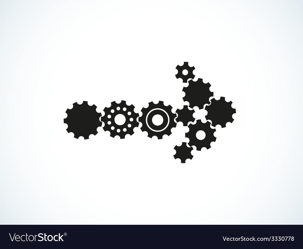 Cogwheel arrow vector | Price: 1 Credit (USD $1)