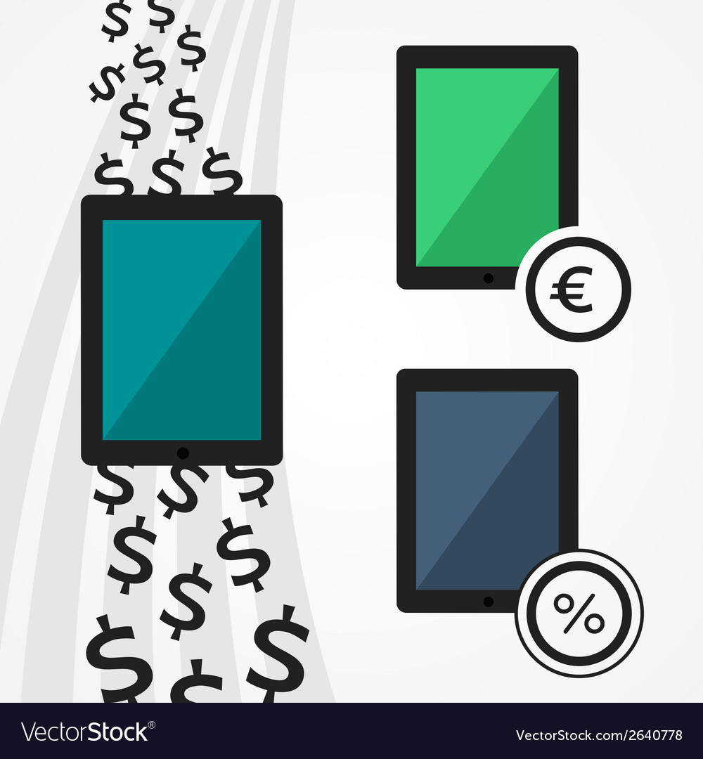 Flat tablets set vector | Price: 1 Credit (USD $1)