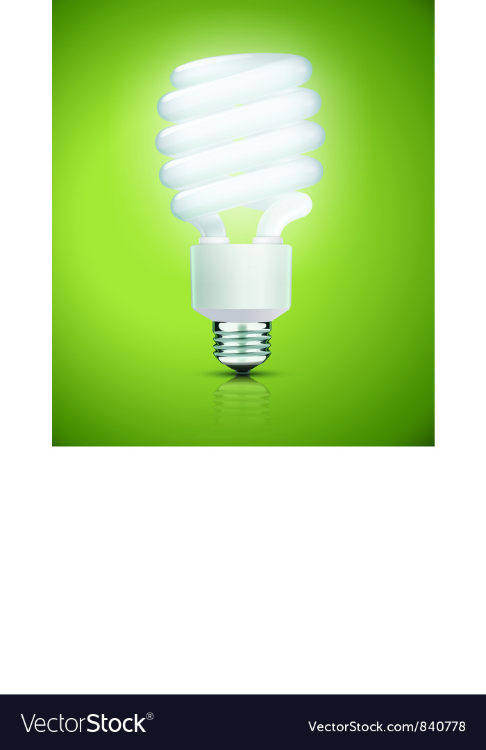 Fluorescent lightbulb vector | Price: 1 Credit (USD $1)