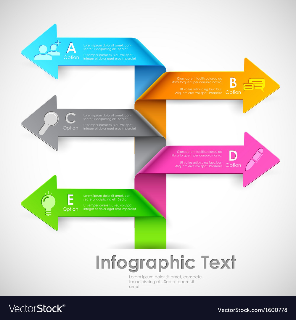 Infographics options banner vector | Price: 1 Credit (USD $1)