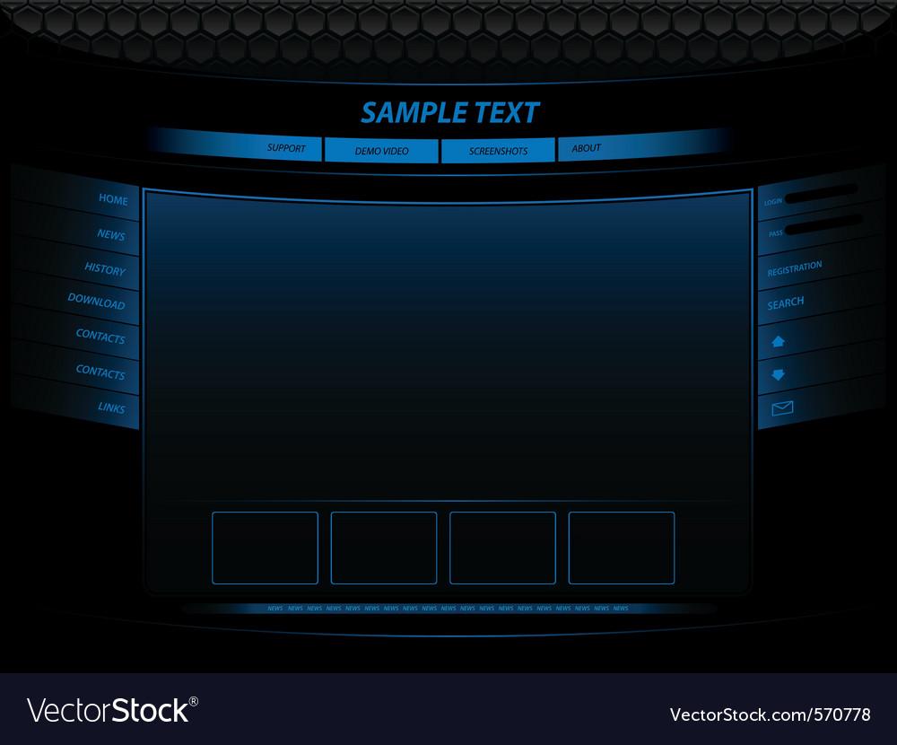 Neon website vector | Price: 1 Credit (USD $1)