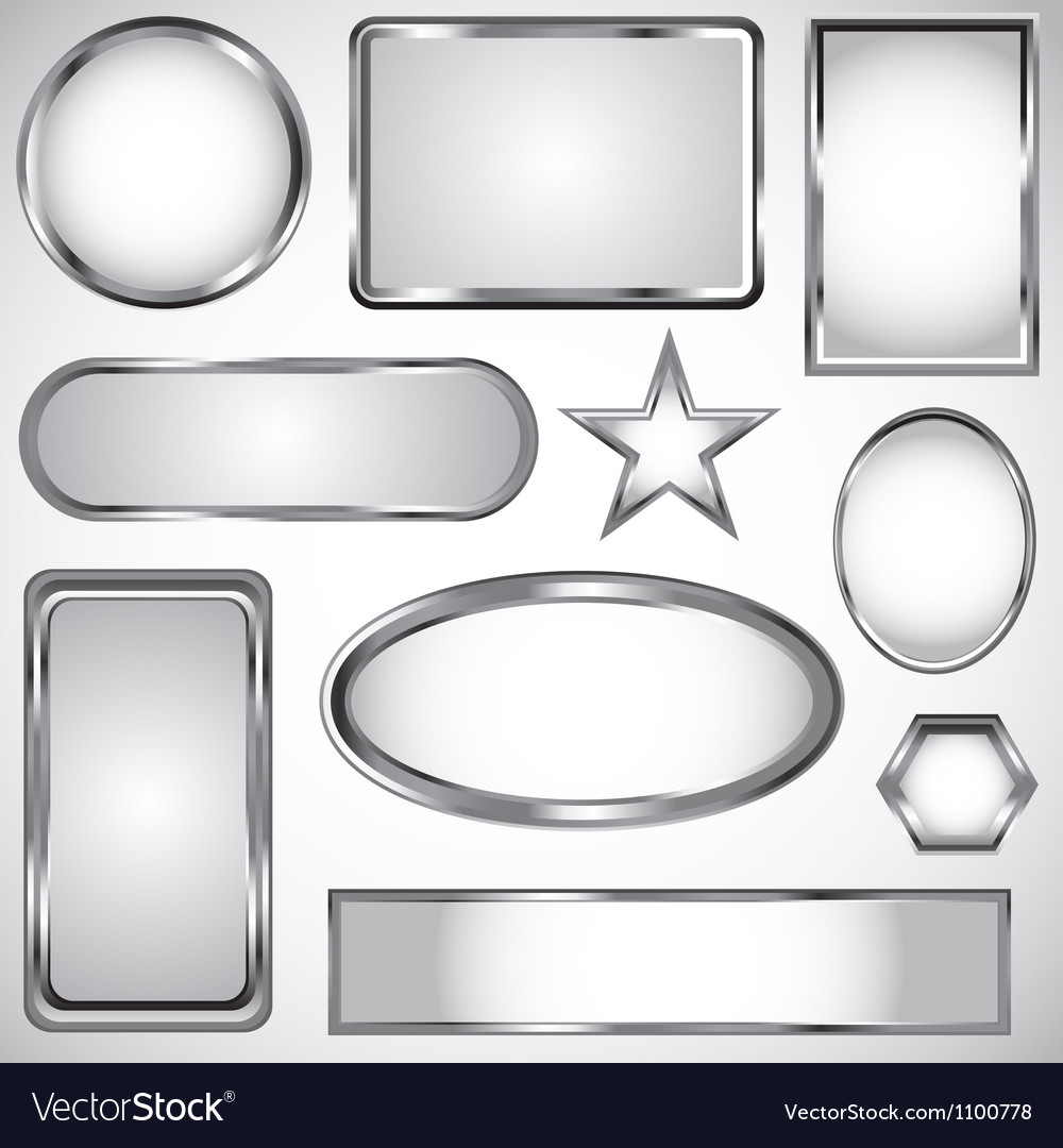 Silver label collection vector | Price: 1 Credit (USD $1)