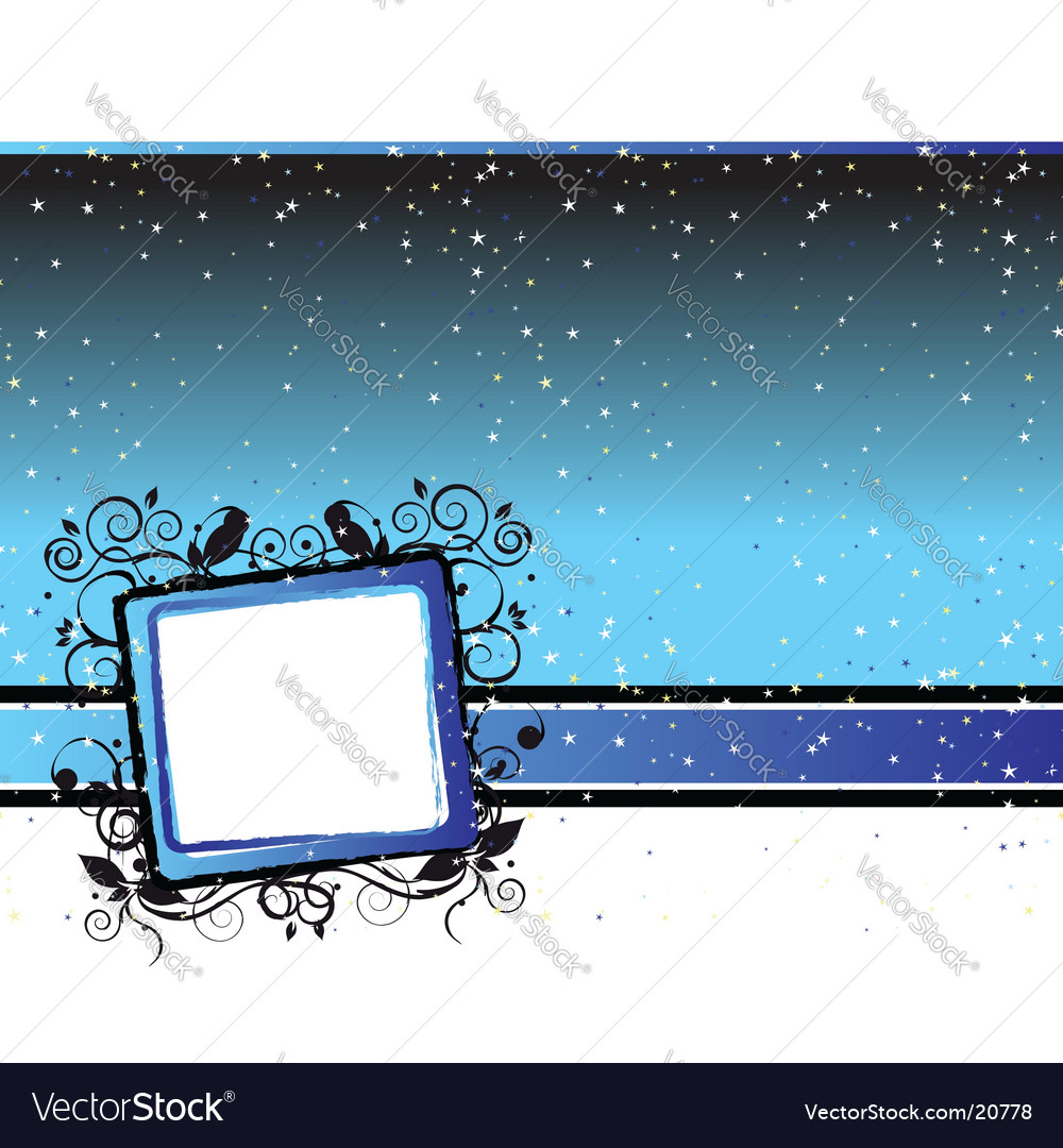 Starry sky background vector | Price: 1 Credit (USD $1)