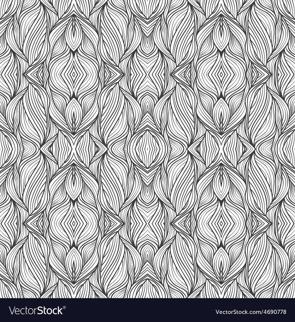 Vintage seamless wallpaper vector | Price: 1 Credit (USD $1)