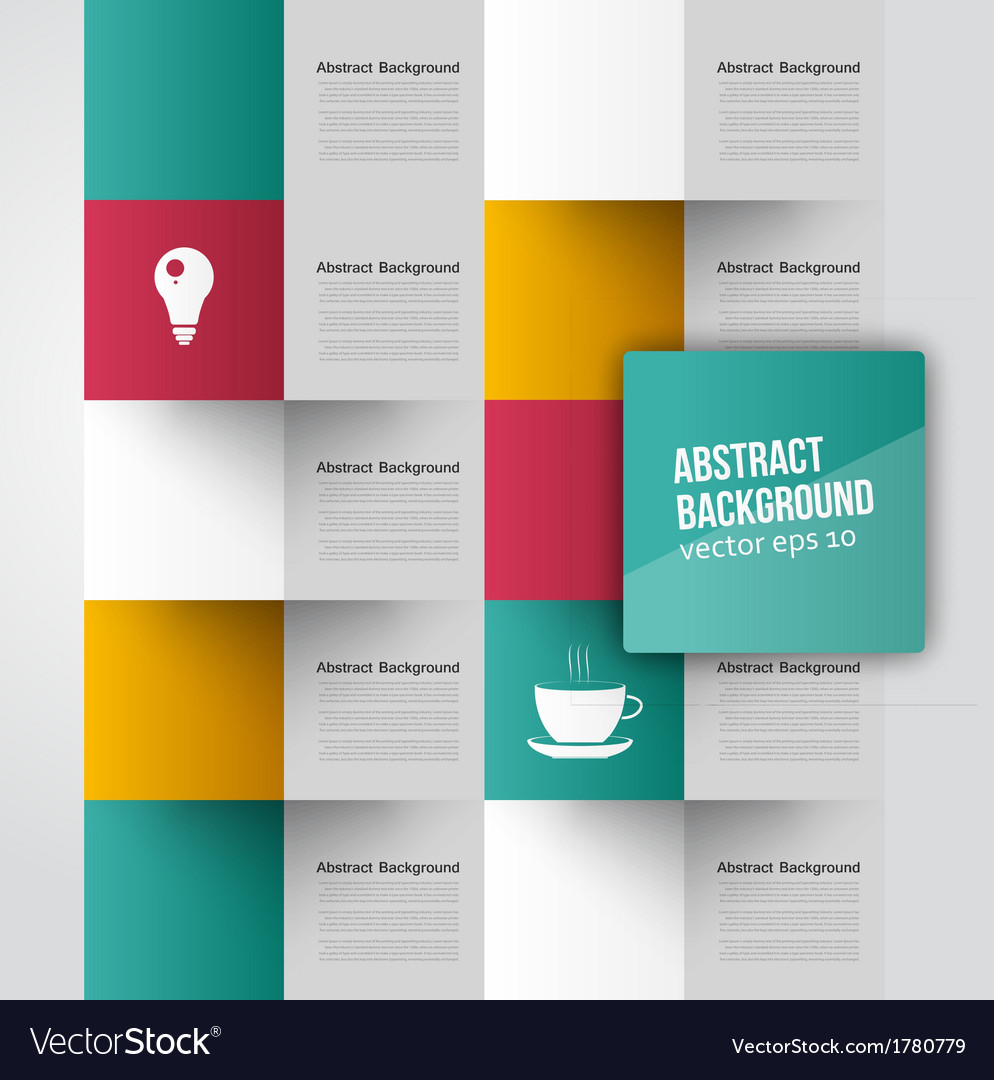 Abstract background square color vector | Price: 1 Credit (USD $1)