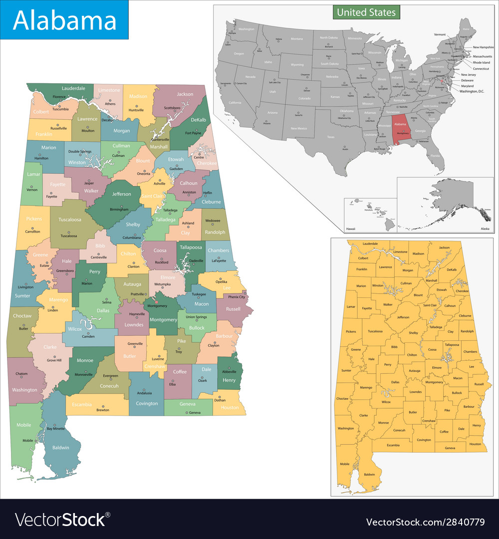 Alabama state vector | Price: 1 Credit (USD $1)