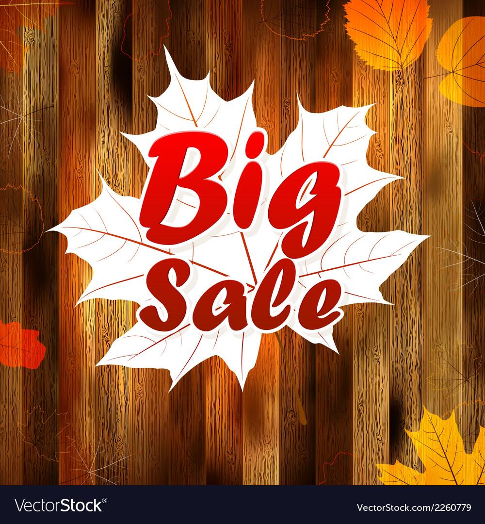 Autumn sale autumn leaves background plus eps10 vector   Price: 1 Credit (USD $1)