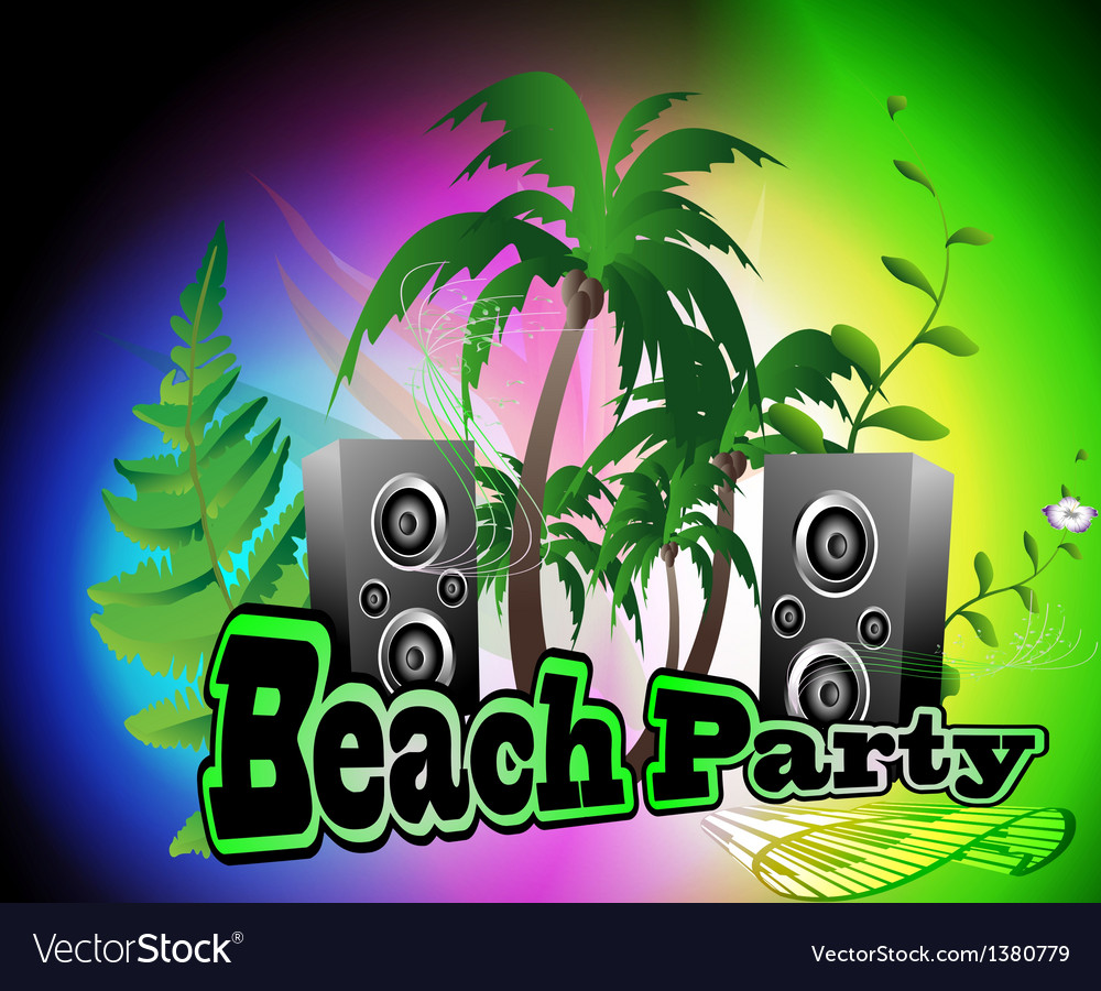 Beach party backgrpund vector | Price: 1 Credit (USD $1)