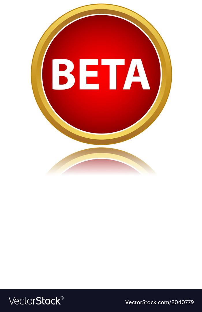 Beta status icon vector | Price: 1 Credit (USD $1)