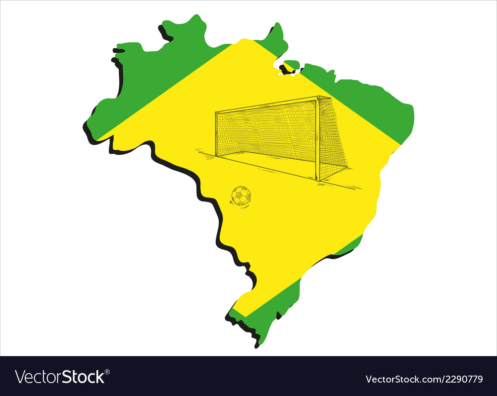 Brazilian map and football vector | Price: 1 Credit (USD $1)
