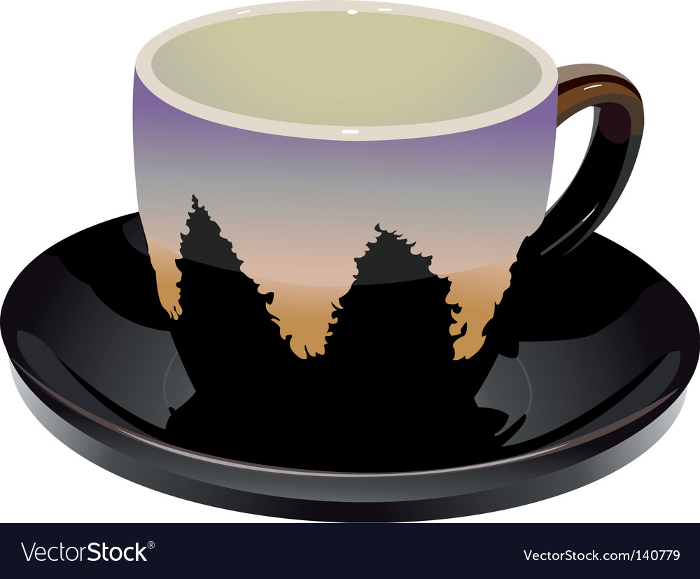 Cup and saucer vector | Price: 1 Credit (USD $1)