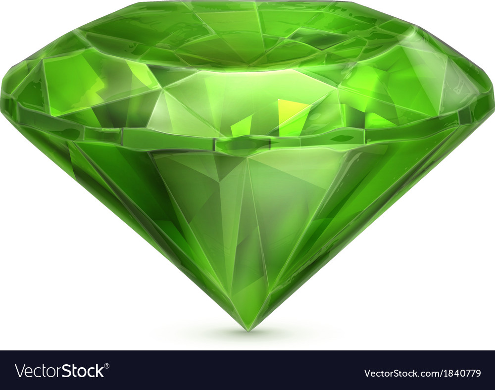 Emerald green icon vector | Price: 1 Credit (USD $1)