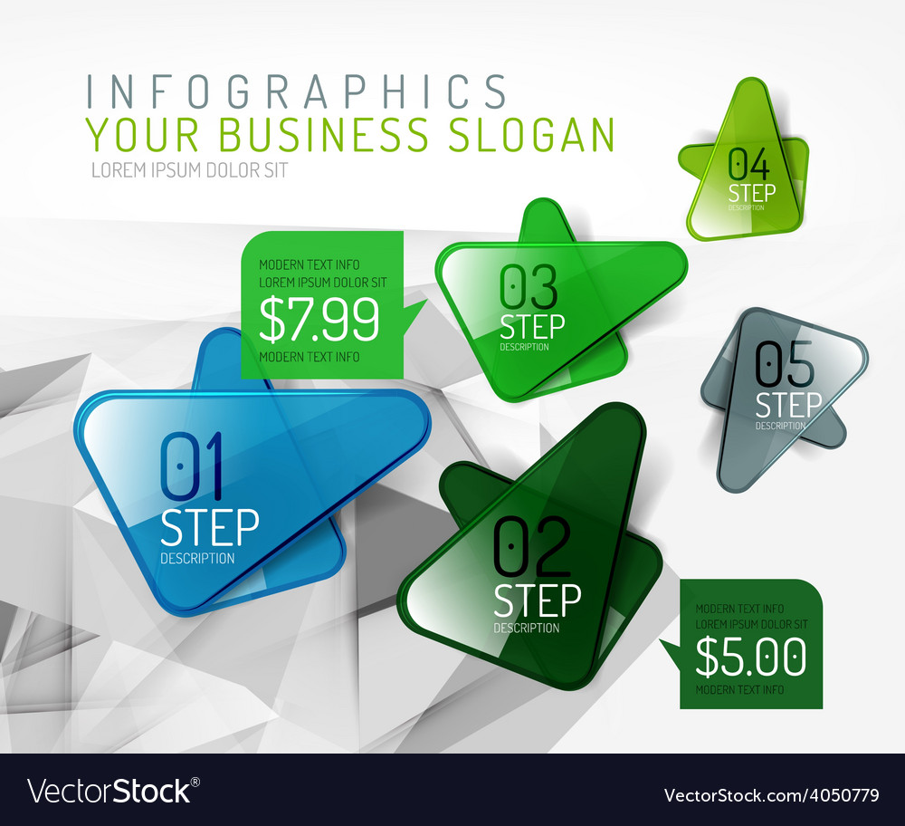 Fresh business abstract infographic vector | Price: 1 Credit (USD $1)