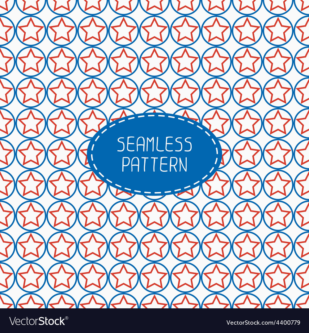 Geometric patriotic seamless pattern with red vector | Price: 1 Credit (USD $1)