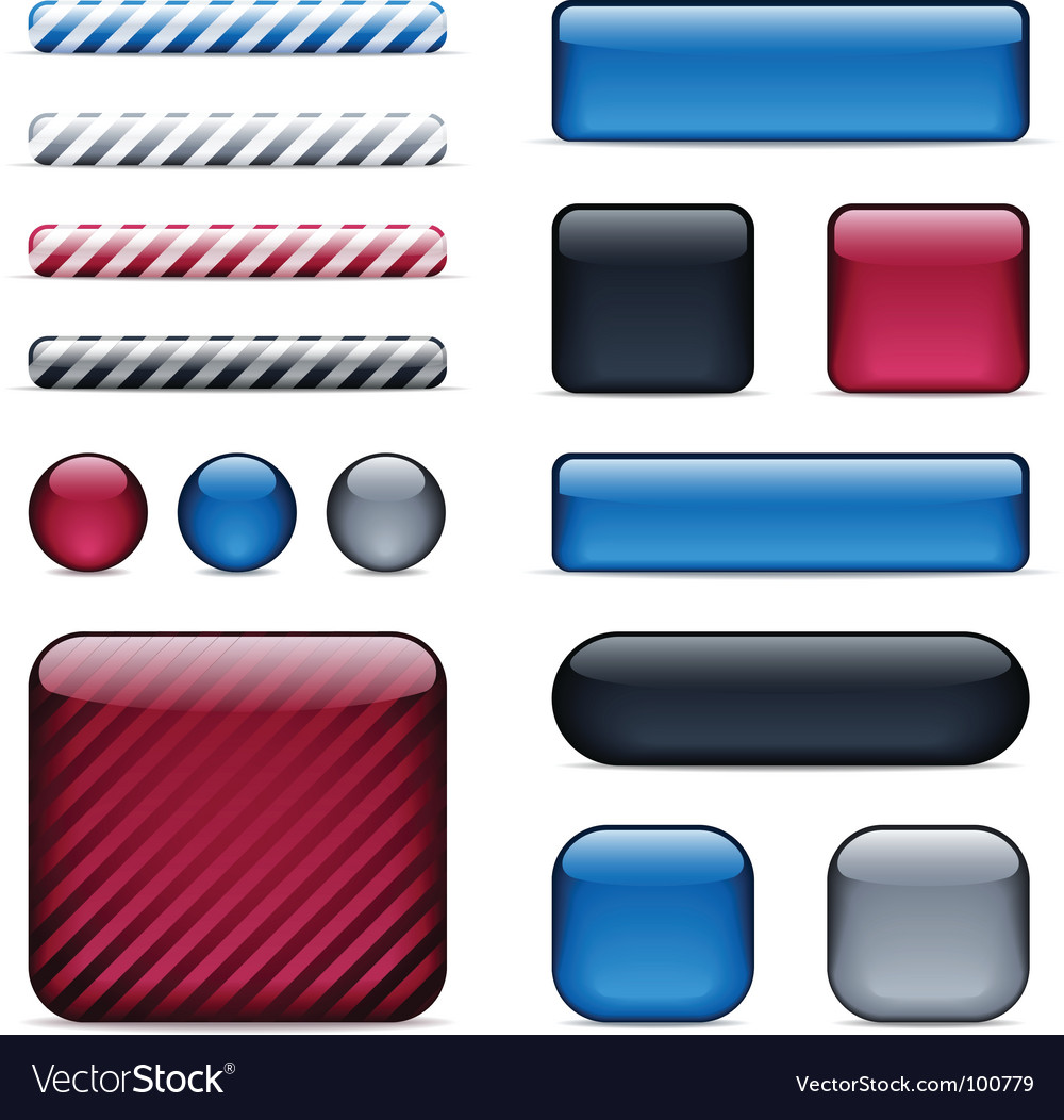 Glossy buttons and bars vector | Price: 3 Credit (USD $3)