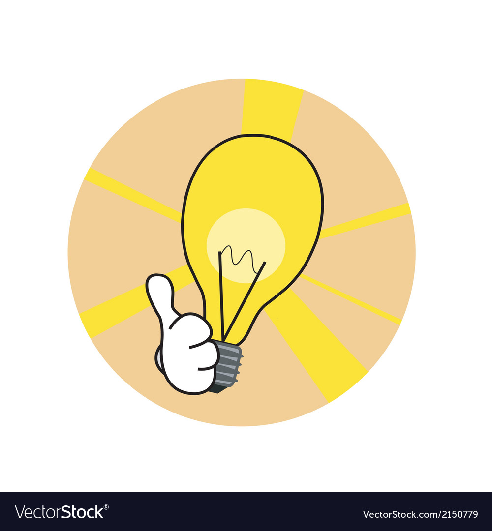 Good idea lamp vector | Price: 1 Credit (USD $1)