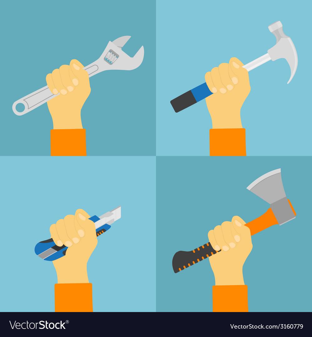 Hand tools vector | Price: 1 Credit (USD $1)