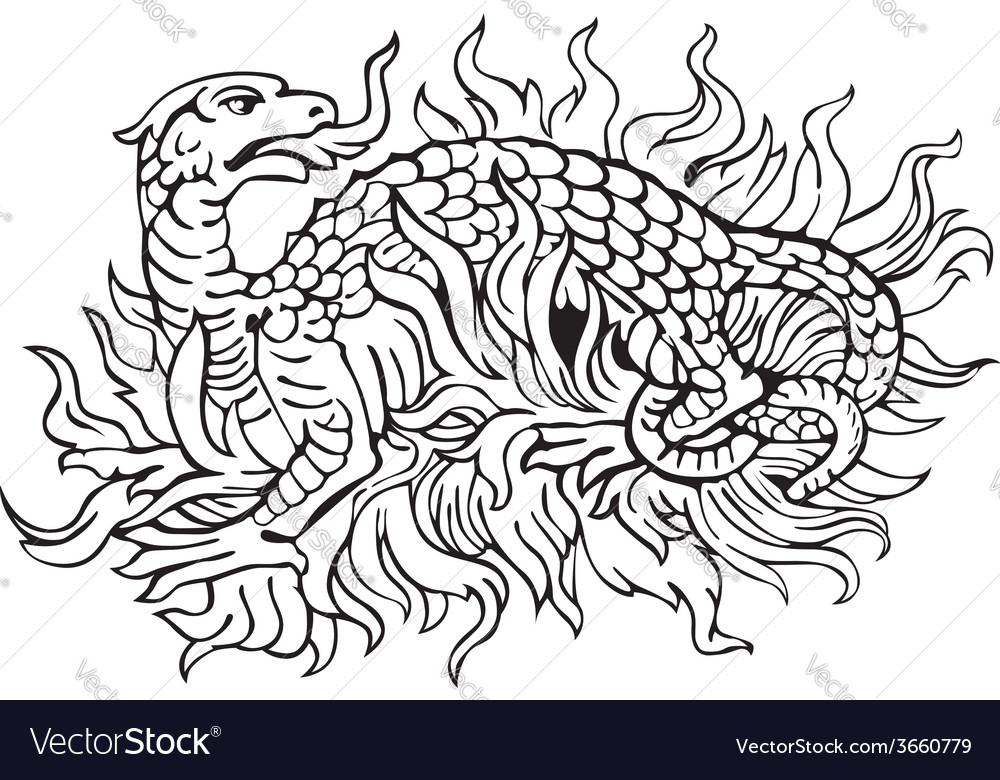 Heraldic dragon no12 vector | Price: 1 Credit (USD $1)