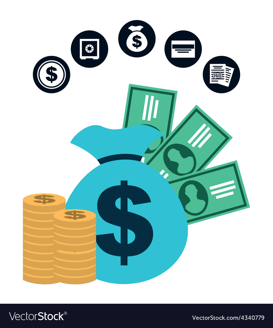 Money concept vector | Price: 1 Credit (USD $1)