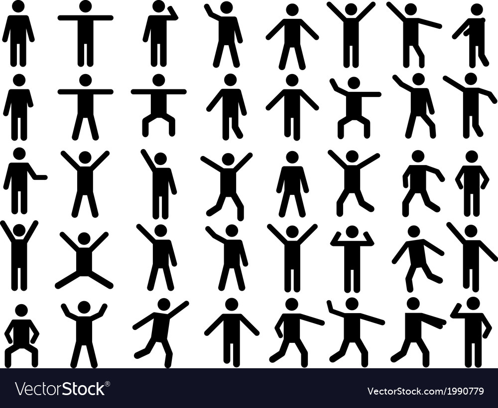 Pictogram people vector | Price: 1 Credit (USD $1)