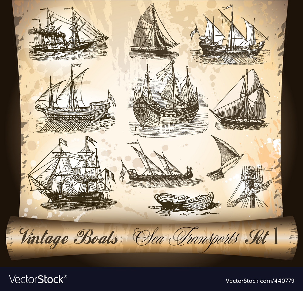 Sail ships vector | Price: 3 Credit (USD $3)
