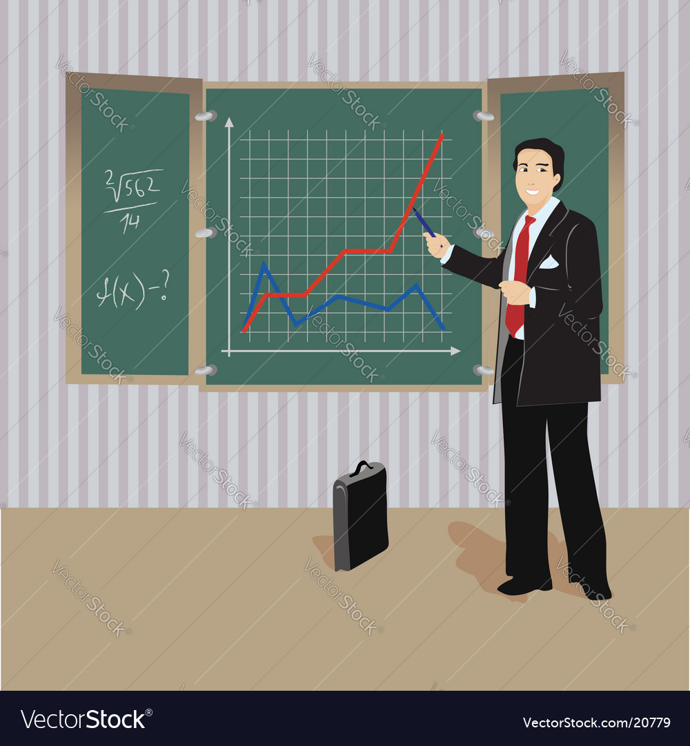 Teacher lesson blackboard vector | Price: 3 Credit (USD $3)