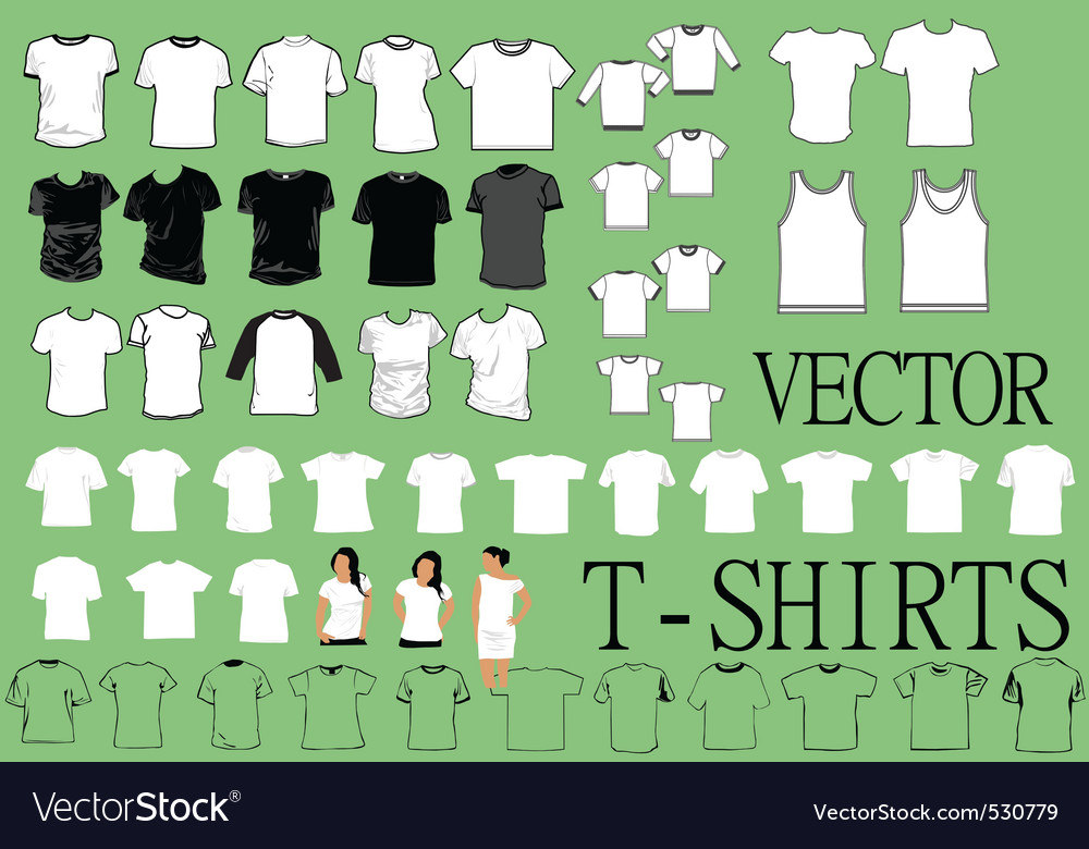 Tshirts vector | Price: 1 Credit (USD $1)
