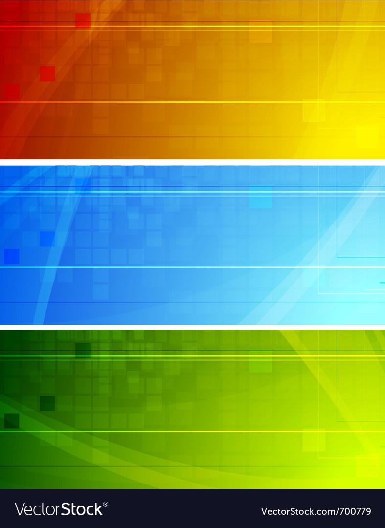 Vibrant stylish banners vector | Price: 1 Credit (USD $1)