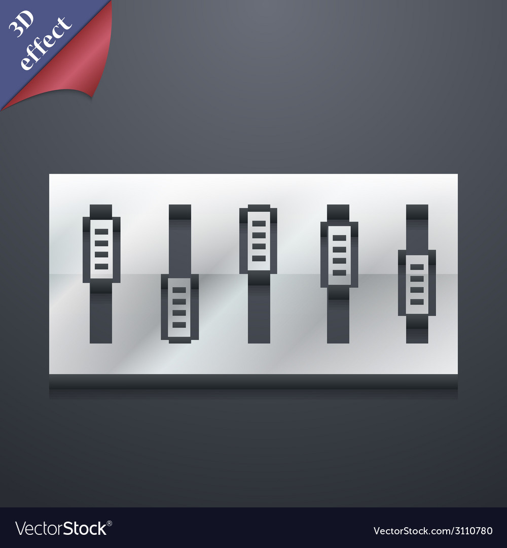 Dj console mix handles and buttons icon symbol 3d vector | Price: 1 Credit (USD $1)