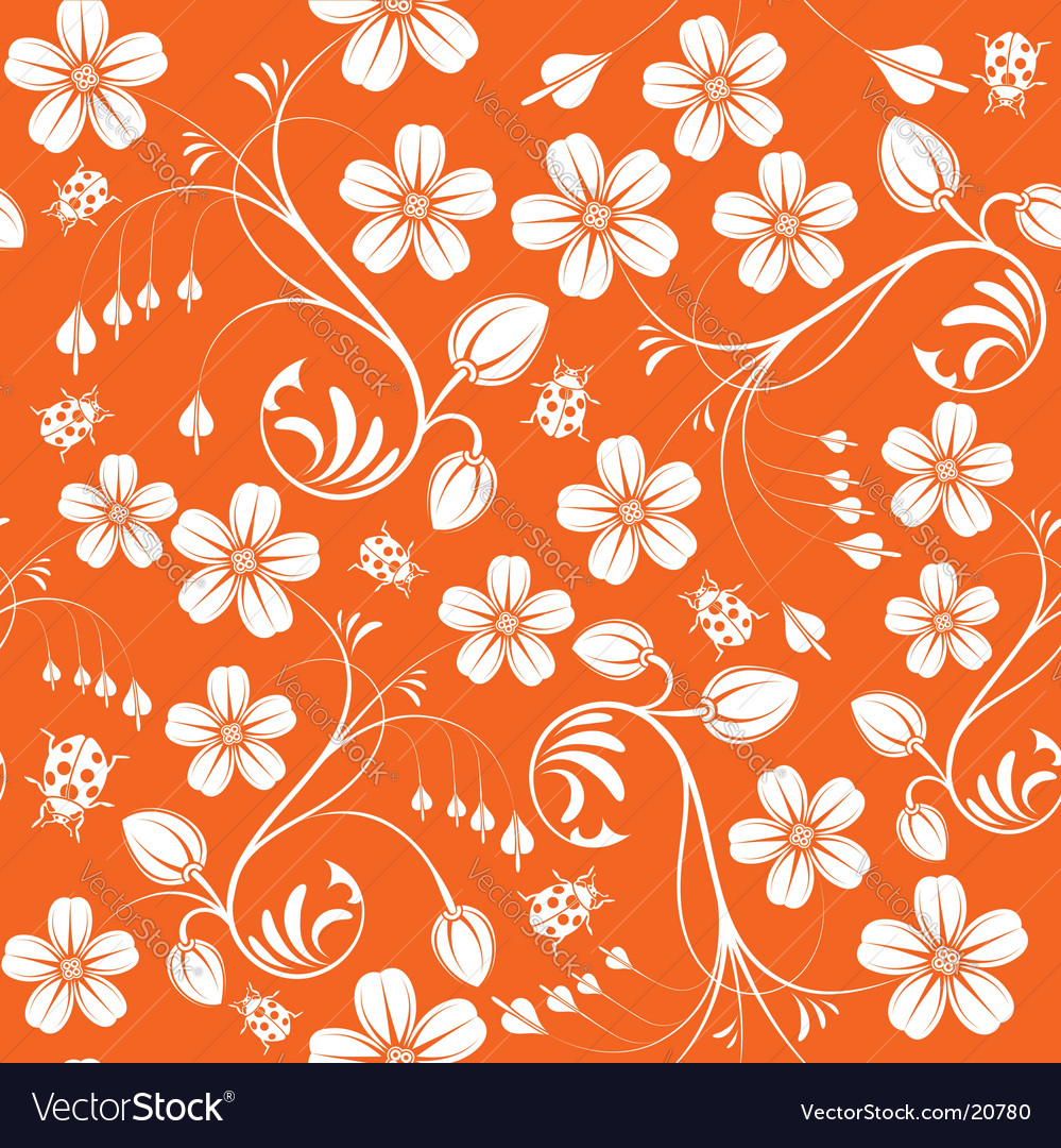 Floral nature wallpaper design vector | Price: 1 Credit (USD $1)