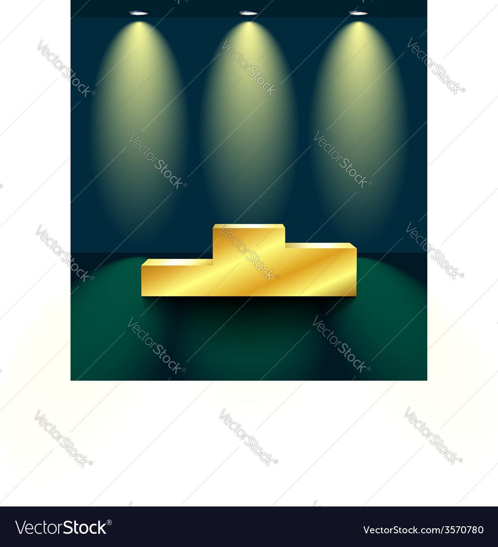 Golden pedestal vector | Price: 1 Credit (USD $1)