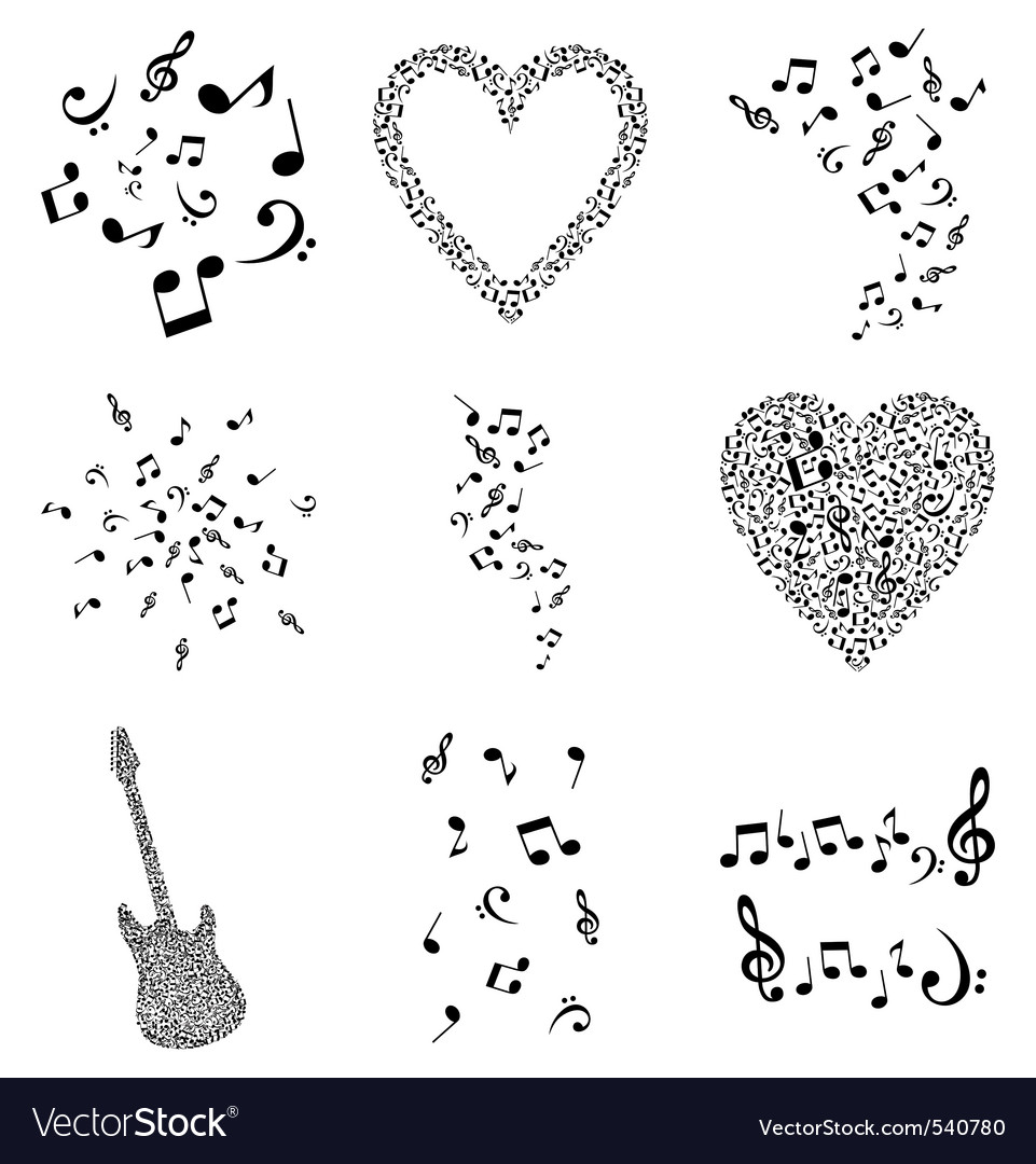 Musical design elements vector | Price: 1 Credit (USD $1)