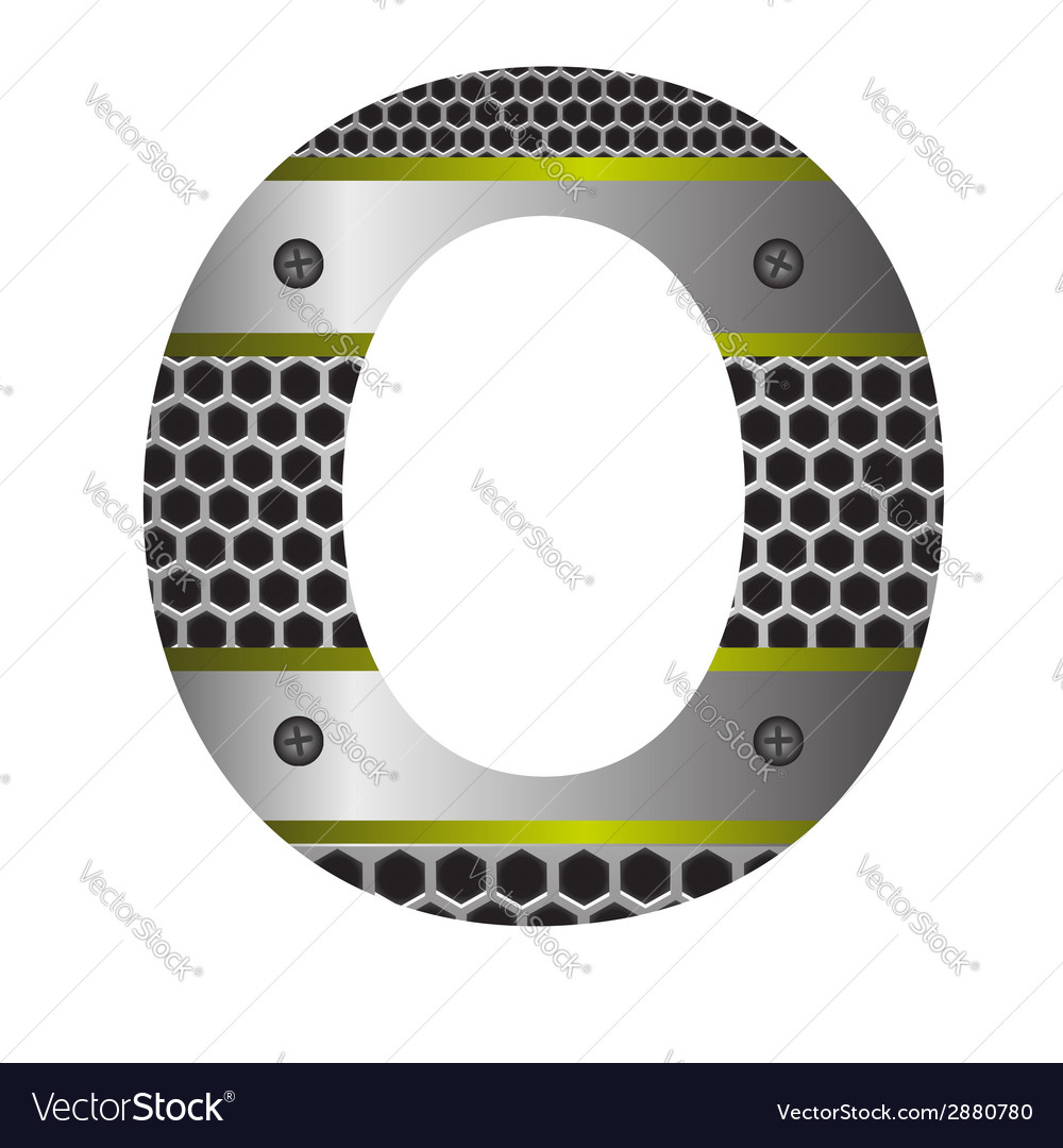 Perforated metal letter o vector | Price: 1 Credit (USD $1)