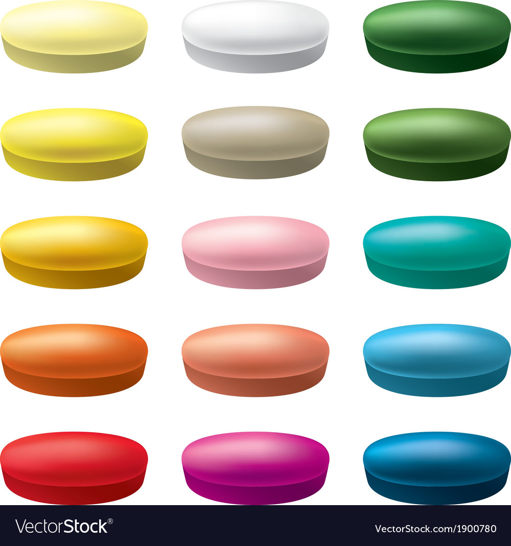 Pills tablets vector | Price: 1 Credit (USD $1)