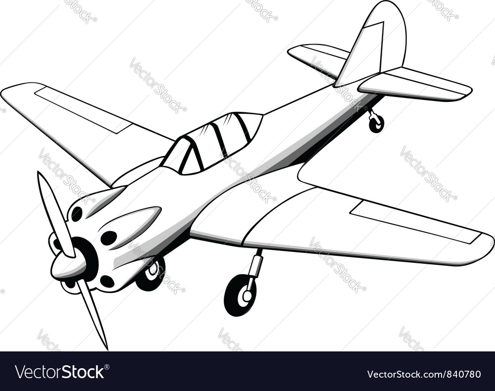 Propeller air plane vector | Price: 1 Credit (USD $1)