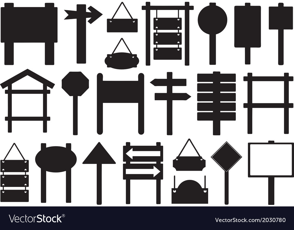 Set of different directional signs vector   Price: 1 Credit (USD $1)