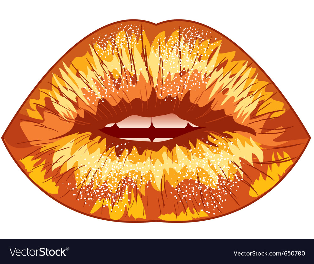 Sexual lips vector | Price: 1 Credit (USD $1)