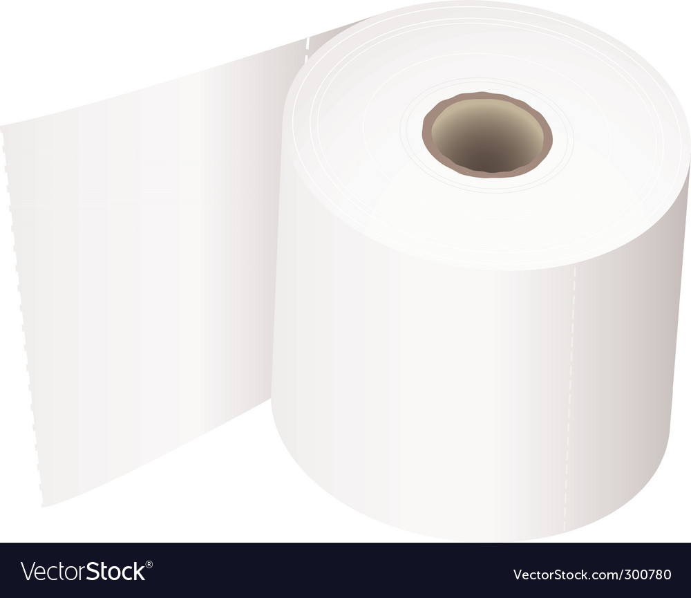 Toilet roll white vector | Price: 1 Credit (USD $1)