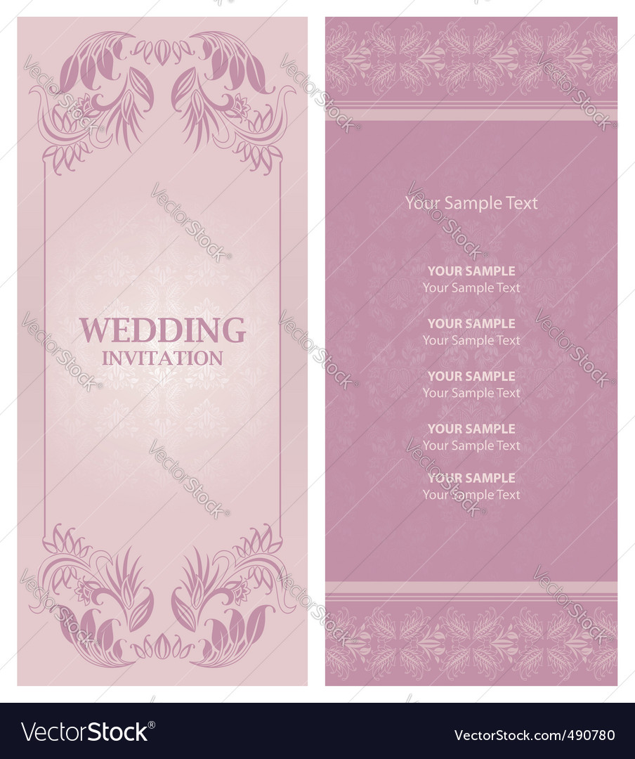 Wedding invitation background vector | Price: 1 Credit (USD $1)
