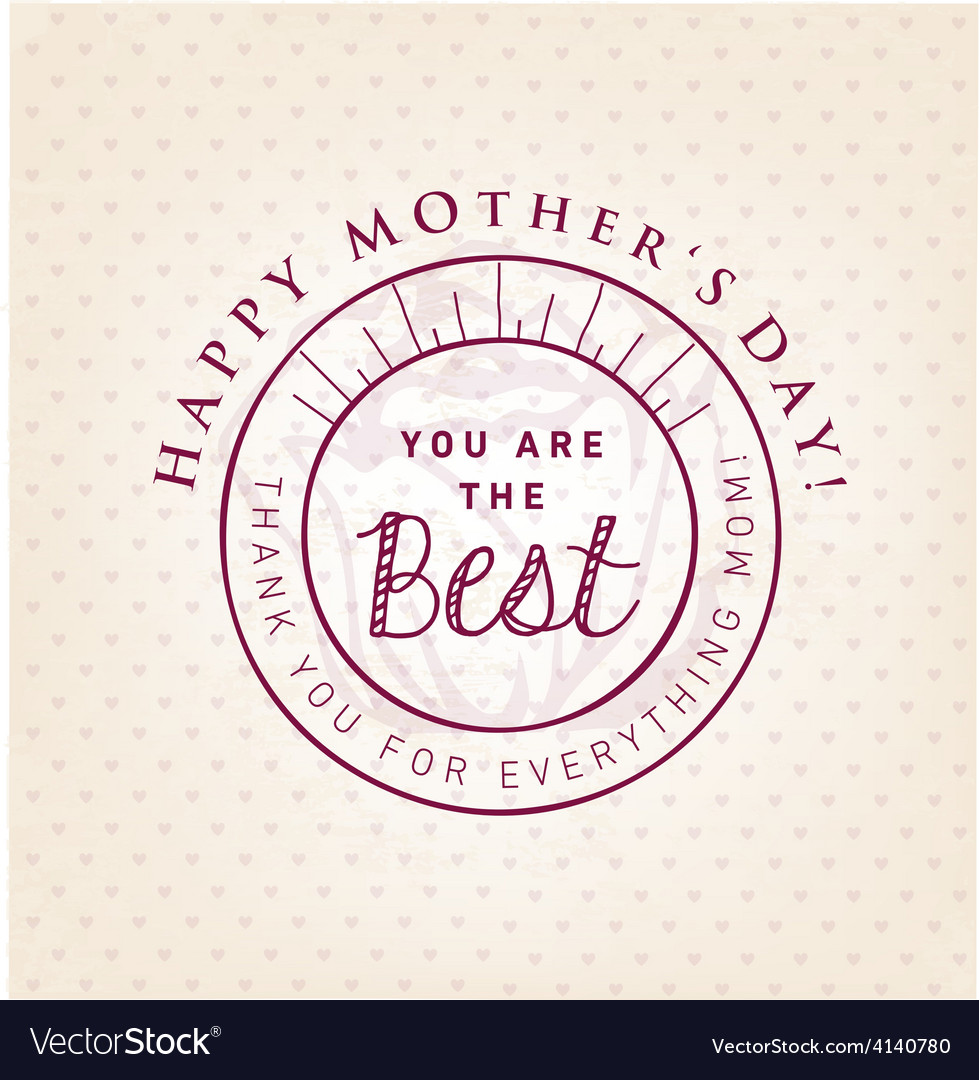 You are the best design element greeting cards vector | Price: 1 Credit (USD $1)