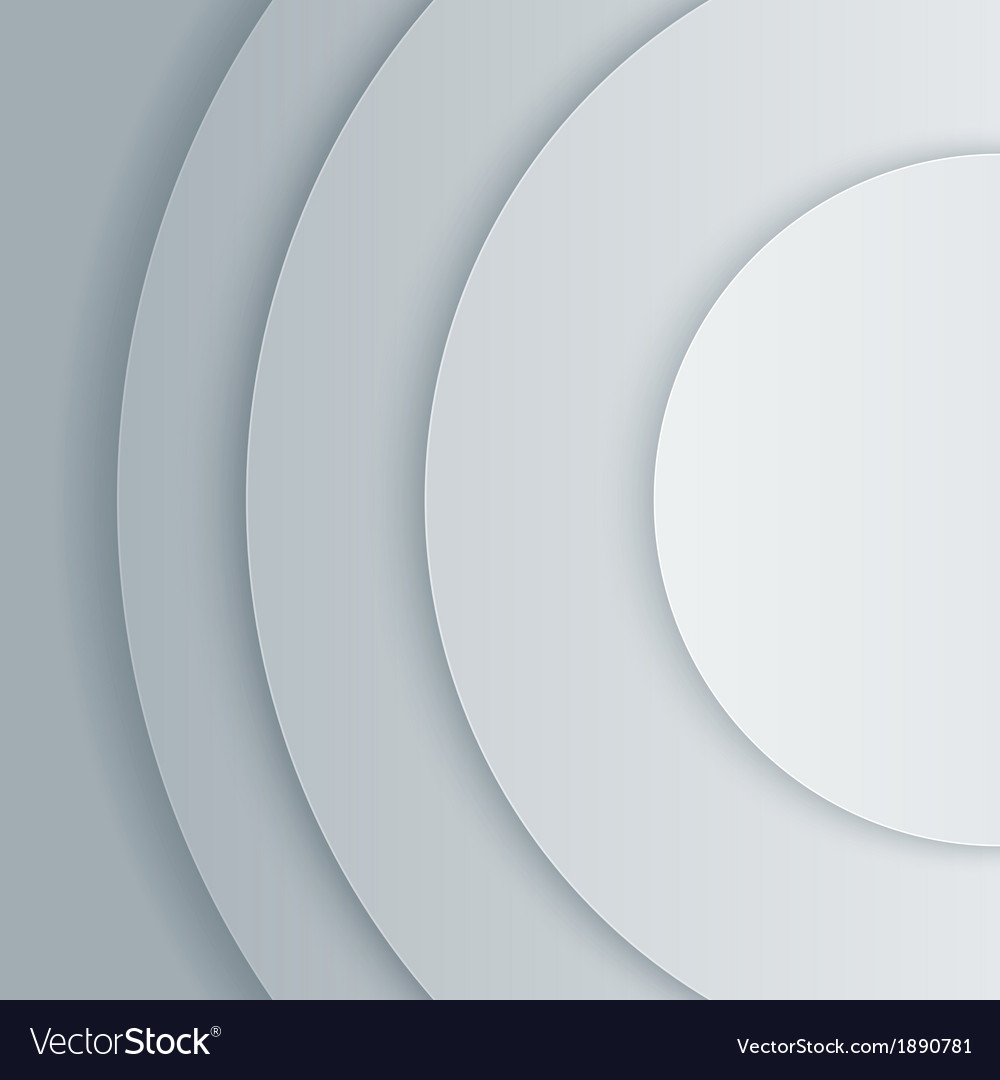 Abstract grey paper circles background vector | Price: 1 Credit (USD $1)