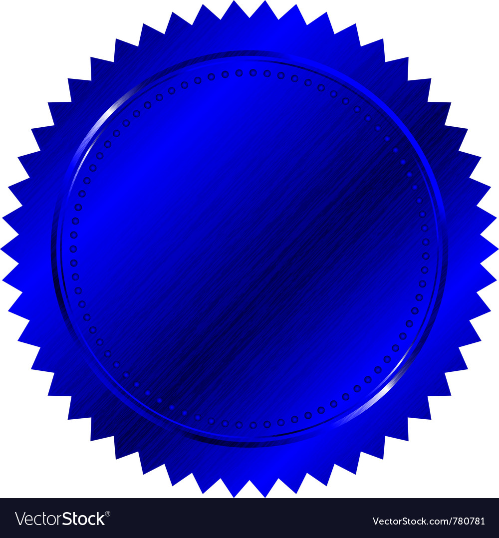 Blue seal vector | Price: 1 Credit (USD $1)